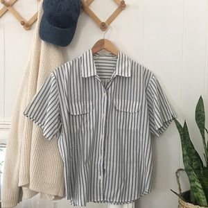 Tops - Striped Button Up Shirt